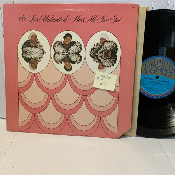Love Unlimited Hes All I Got- Unlimited Gold U 101 VG+/VG+ BR Soul Record LP