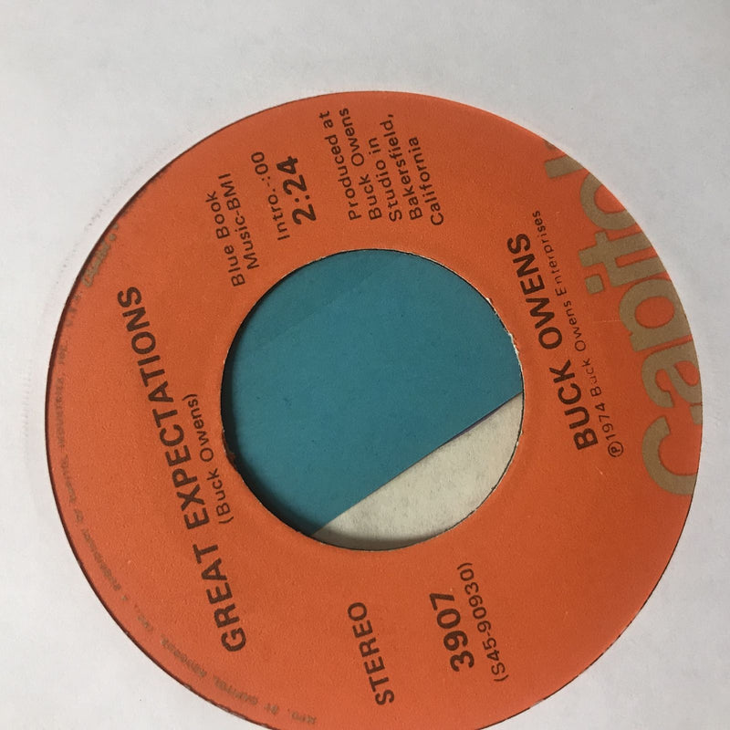 Buck Owens- Monsters Holiday/Great Expectations- Capitol 3907- Country 45 VG+