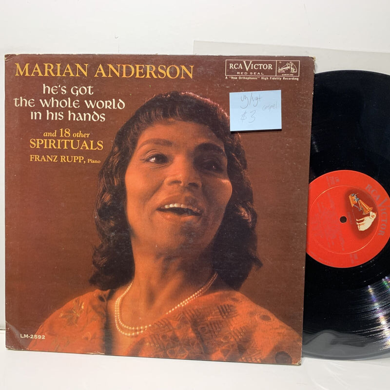 Marian Anderson Hes Got The Whole World In His Hands- RCA 2592 VG/VG+