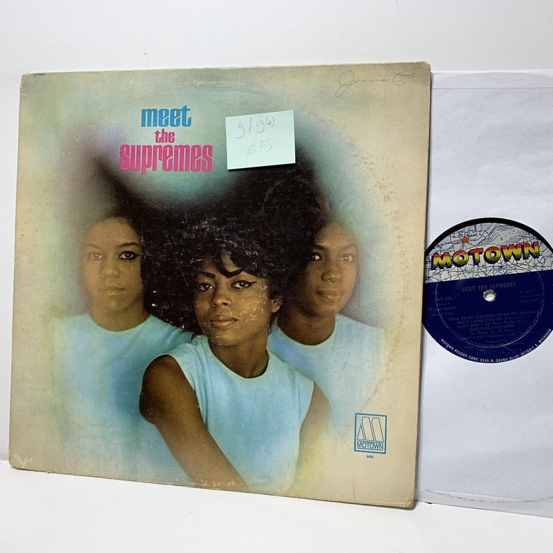 Meet The Supremes- Motown 606 G/VG(+) Soul LP WOC
