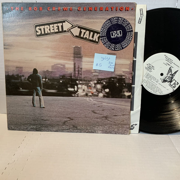 The Bob Crewe Generation Street Talk- Elektra Promo Jazz Funk VG+/VG+ Record