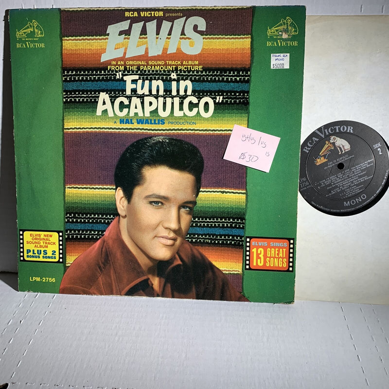 Elvis Presley Fun In Acapulco RCA LPM 2756 1S VG+/VG /VG Soundtrack Record