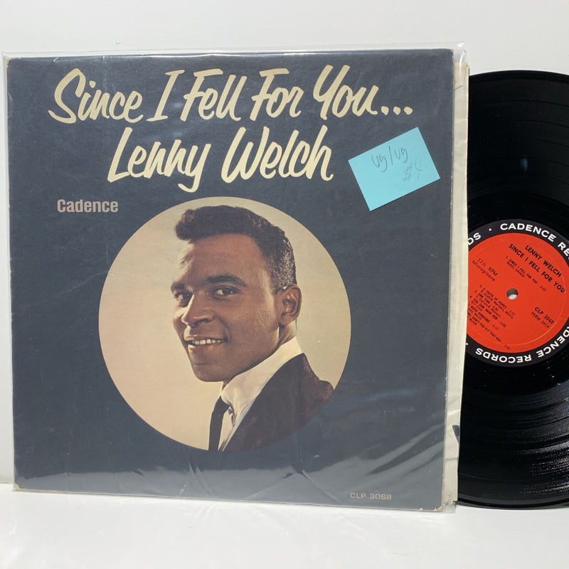Lenny Welch Since I Fell For You- Cadence 3068 Soul LP VG/VG