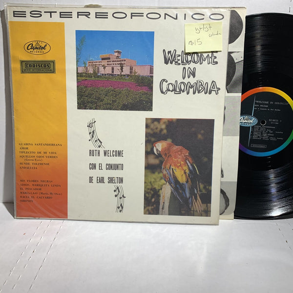 Ruth Welcome Welcome In Colombia- Capitol EC 80223 VG+/VG+ Latin LP