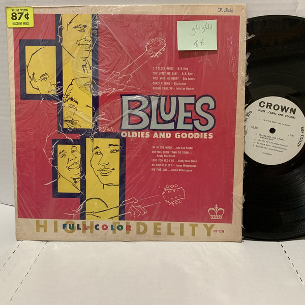 Blues Oldies & Goodies- Crown 5238 G+/VG(+) Blues Comp Record LP King Etta
