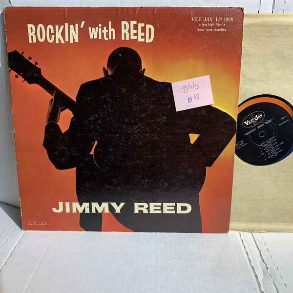 Jimmy Reed Rock With Reed- Vee Jay LP 1008 VG(+)/VG Mono Blues Record LP