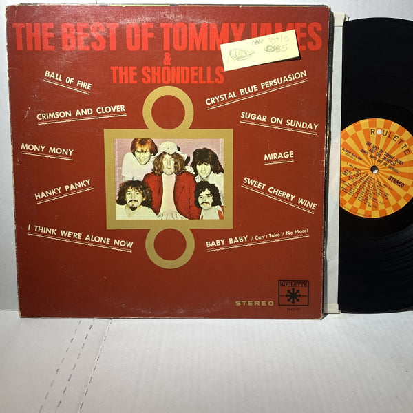 Tommy James Shondells Best Of- Roulette 42040 VG+/VG Rock Record Comp