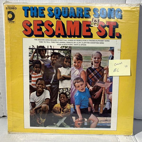 The Square Song Sesame St Design Records SDLP 319 SEALED 1970 Record LP