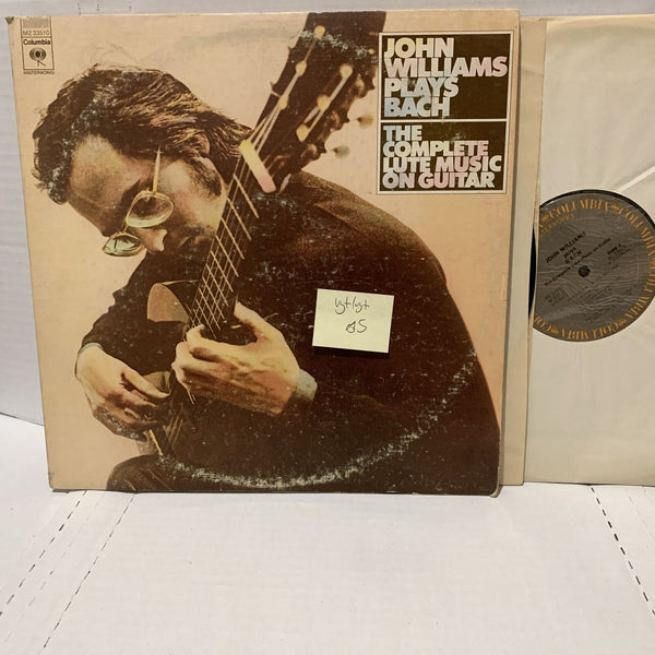 John Williams Plays Bach Lute Music Classical Guitar- Columbia Record 2LP VG+