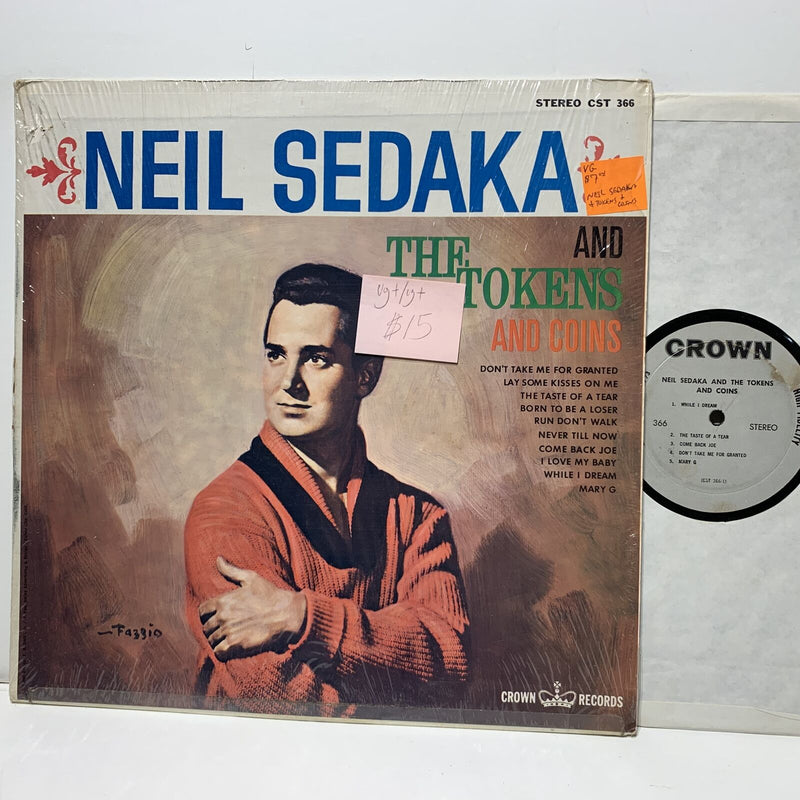 Neil Sedaka & The Tokens Coins- Crown 366 VG+/VG+ Soul