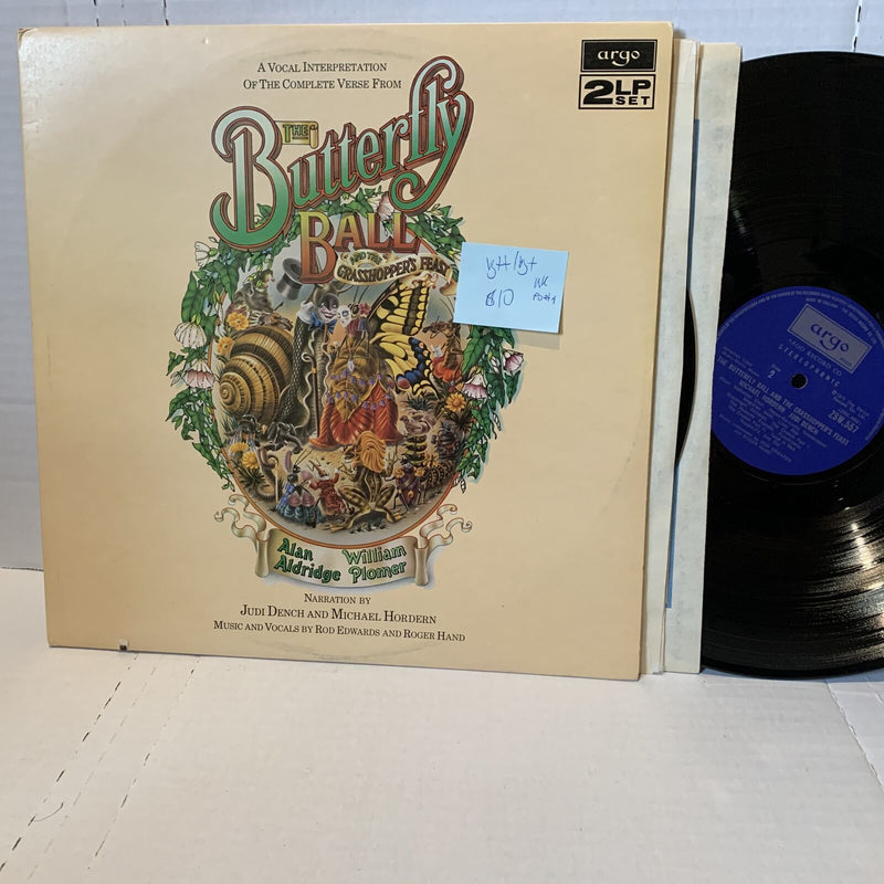 Judi Dench Butterfly Ball Argo UK Press Poetry 2LP VG++/VG+ Vinyl Record LP