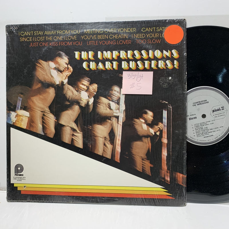The Impressions Chartbusters! Pickwick 3502- VG/VG+ /VG+ Soul LP