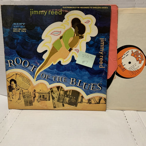 Jimmy Reed Root Of The Blues Kent 537 VG(+)/VG(+) Blues Record 2LP Comp