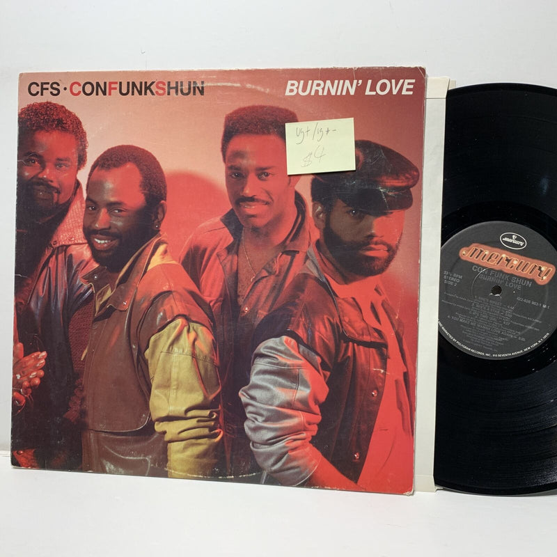 Con Funk Shun Burnin Love- Mercury Disco Funk LP VG+/VG+-