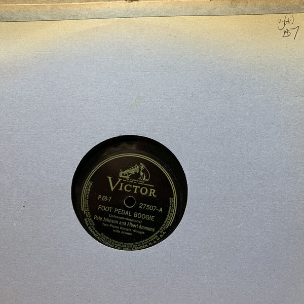 Pete Johnson Albert Ammons Foot Pedal Boogie Victor 27507 VG(+) Jump Blues