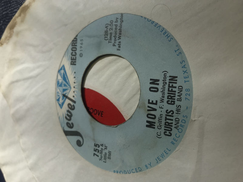 Curtis Griffin- Move On/I Gotta Lump- Jewel 755- VG+ Soul 45