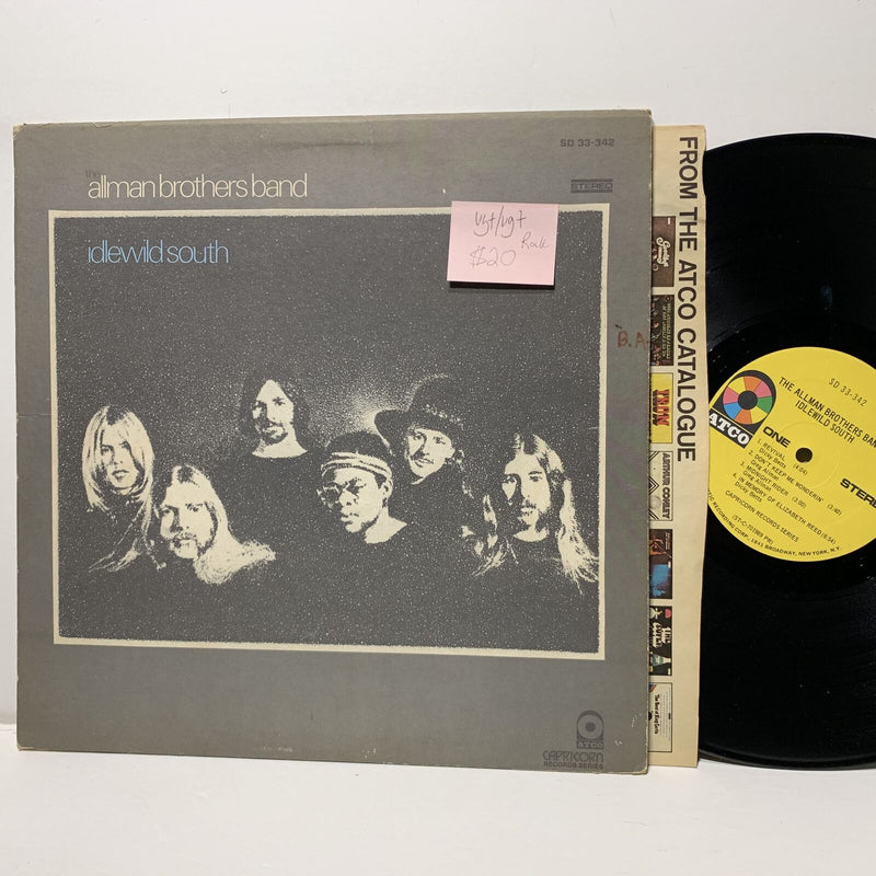 Allman Brothers Band Idlewild South- Atco 33342 VG+/VG+ Rock LP