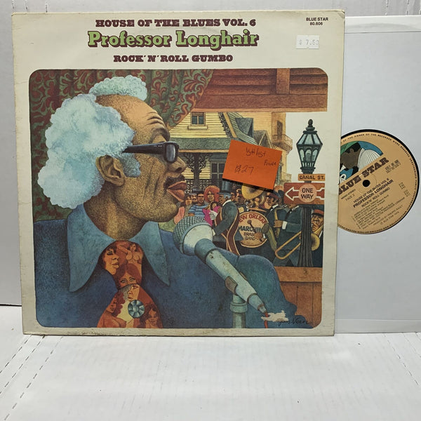 Professor Longhair Rock N Roll Gumbo Blues Blue Star France Press VG++/VG+-