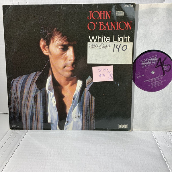 "John O'Banion White Light- Bellaphon German Press Synth Pop VG+- 12"" Record"