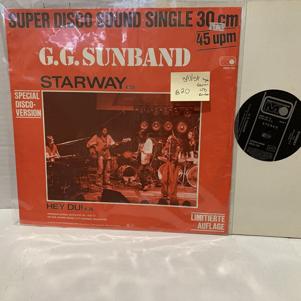 "G.G. Sunband Starway Hey Du Krautrock 12"" Single Record VG(+)/VG+ German press"