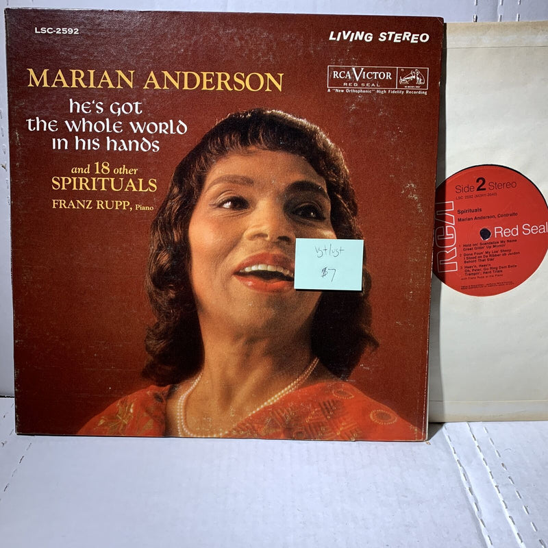Marian Anderson Hes Got The Whole World Spirituals- Living Stereo Red Seal