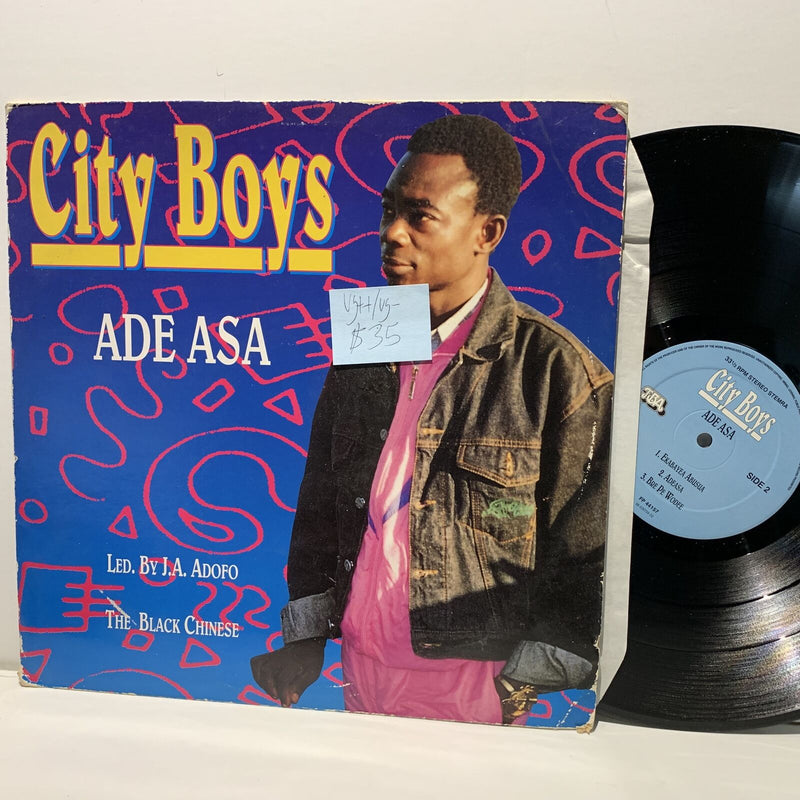 City Boys- Ade Asa- TBA Records Highlife LP- VG++/VG-
