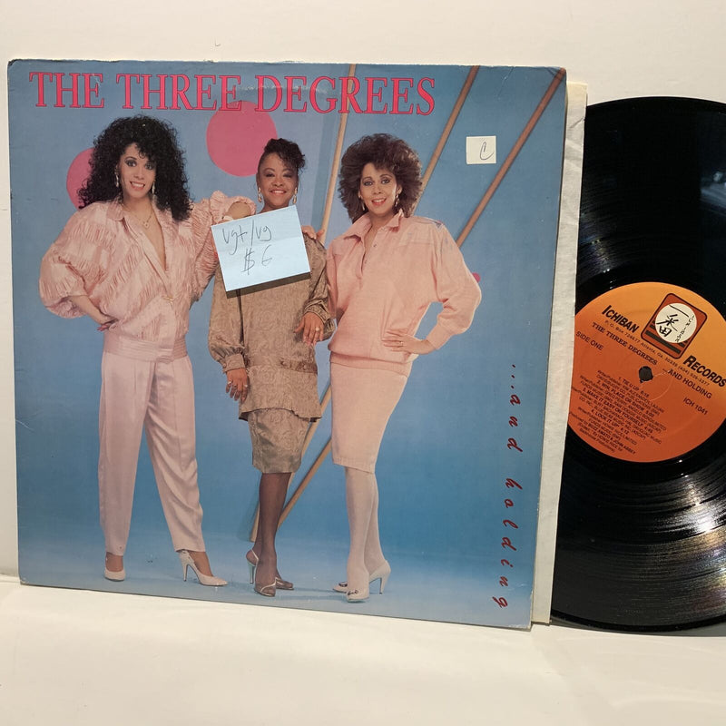 The Three Degrees- And Holding- Ichiban Soul Funk Disco LP- VG+/VG