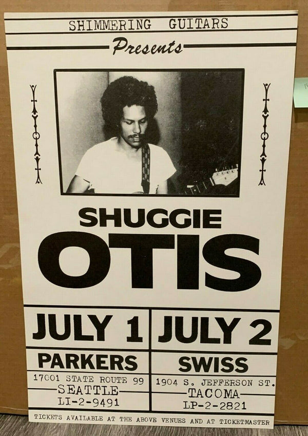 Shuggie Otis Seattle July 1 2 1998 Original Concert Poster Excellent condition