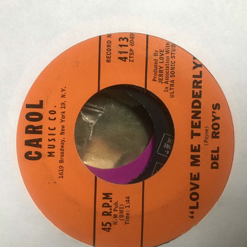 Del Roy's- Pleasing You/Love Me Tenderly- Carol 4113- VG - Rare Doo Wop 45