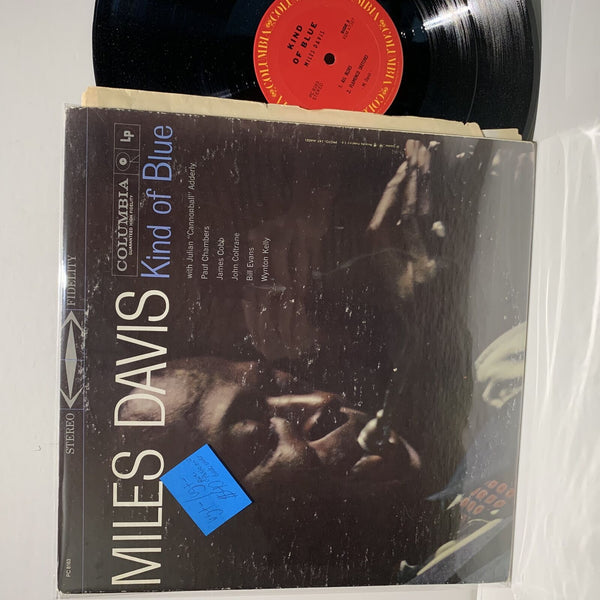 Miles Davis- Kind Of Blue- Columbia Jazz LP- VG+-/VG+- Paste On Back Cover