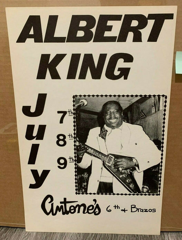 Albert King July 7-9 Antone's Original Blues Concert Poster Excellent condition