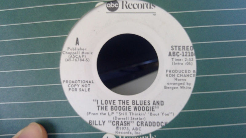 Billy Crash Craddock- I Love The Blues and Boogie Woogie ABC 12104 PROMO