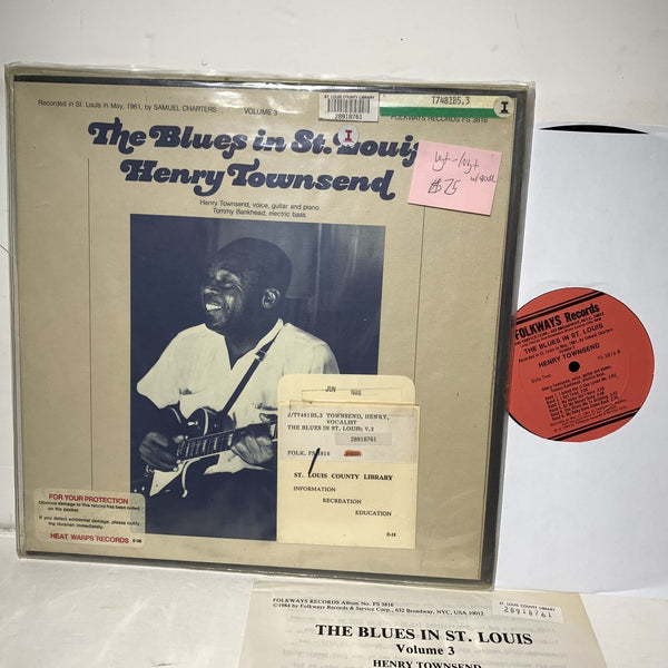 Henry Townsend Blues In St Louis Folkways FS 3816 VG+-/VG+ w/booklet