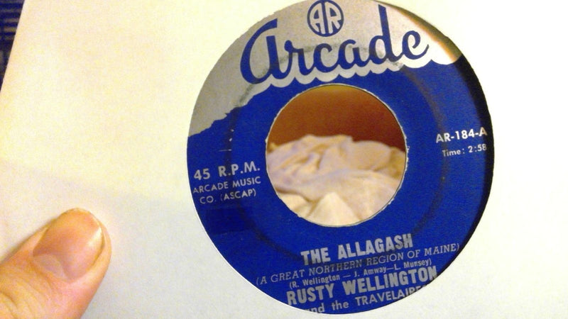 Rusty Wellington- The Allagash- Arcade 184- Rare country 45- VG