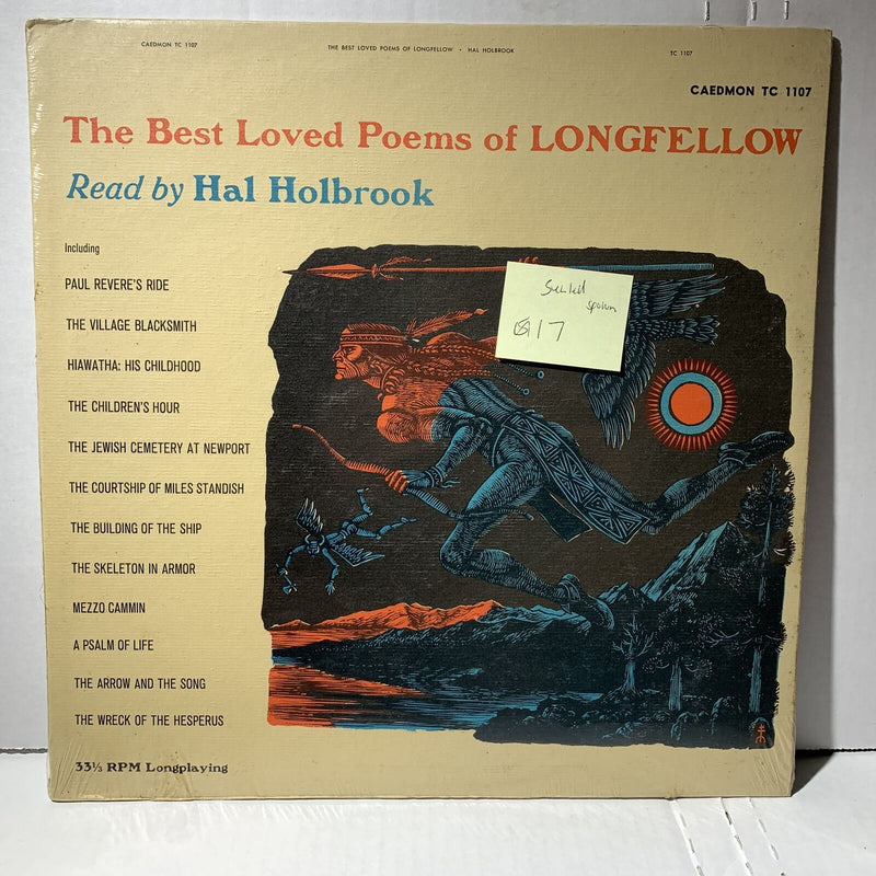 Best Loved Poems Of Longfellow Hal Holbrook- Caedmon TC 1107 SEALED Spoken