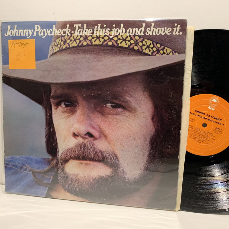 Johnny Paycheck- Take This Job And Shove It- Epic Outlaw Country LP- VG+-/VG+