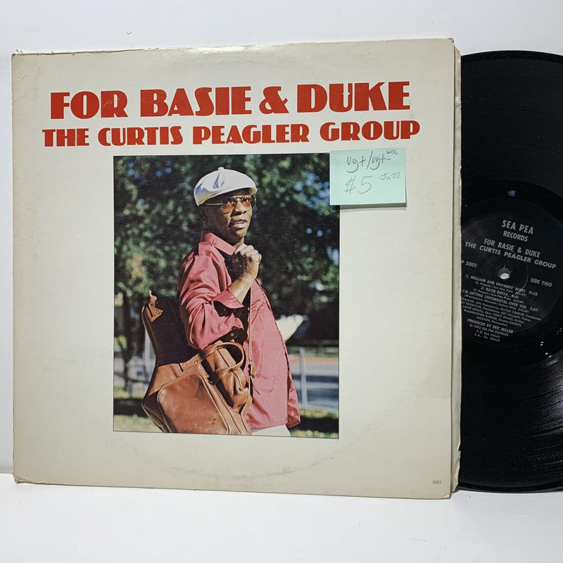 Curtis Peagler Group- For Basie & Duke- Sea Pea 5001 VG+/VG+- Jazz WOC