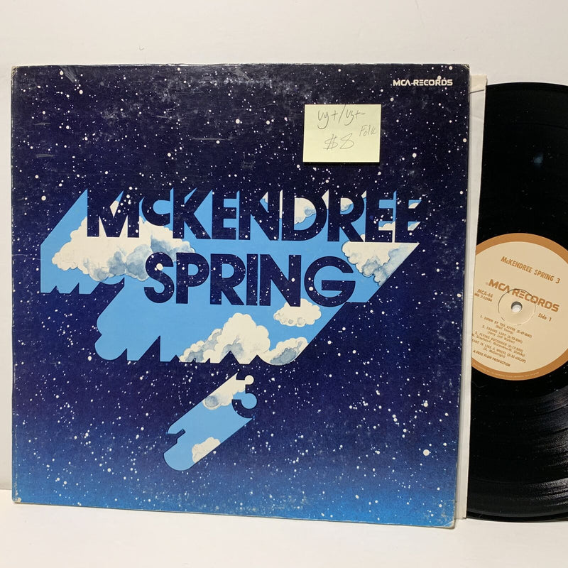 McKendree Spring 3 MCA 44 VG+/VG+- Folk LP