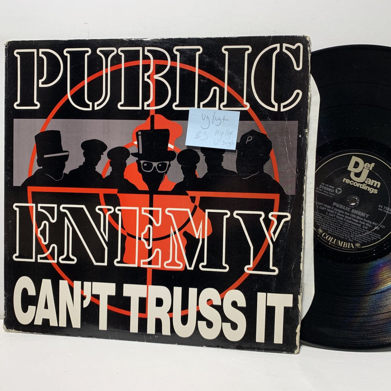 "Public Enemy Cant Trust It- Def Jam 7356 12"" Single Hip Hop VG/VG+-"