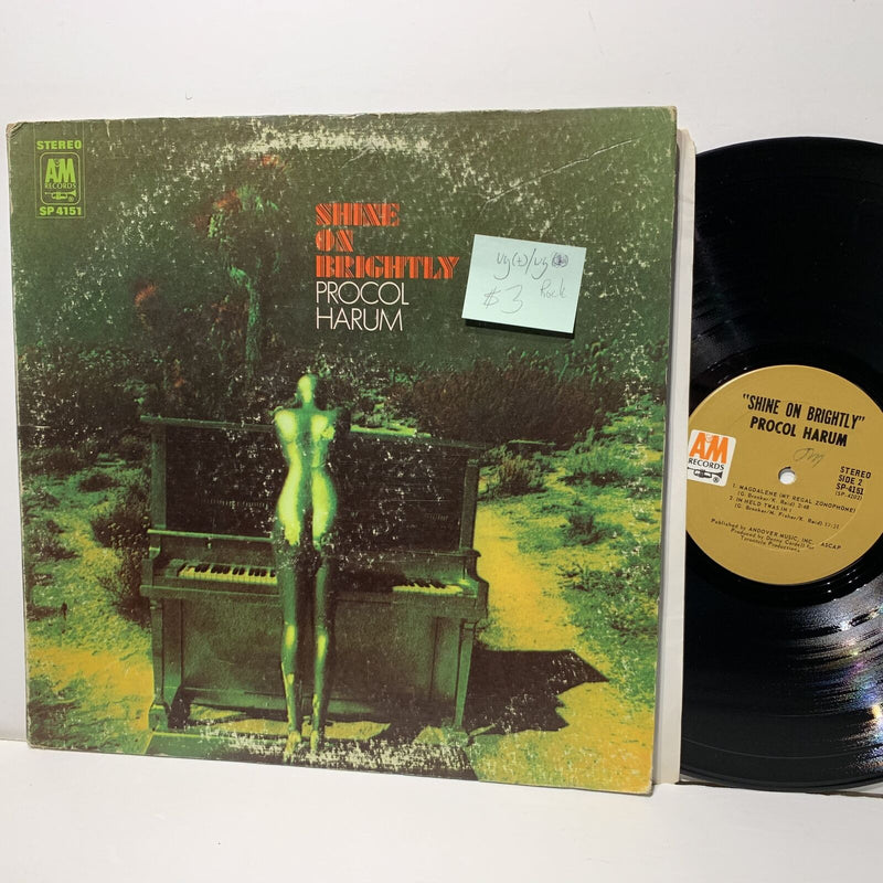 Procol Harum Shine On Brightly- A&M 4151 VG(+)/VG Rock LP