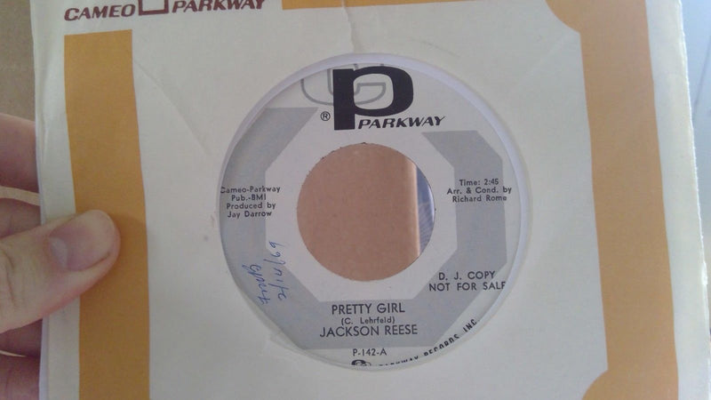 Jackson Reese- Pretty Girl/Cry Me A River- Parkway 142- EX PROMO Soul