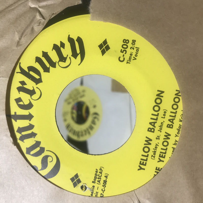 The Yellow Balloon- Yellow Balloon- Canterbury 508- EX Psych 45