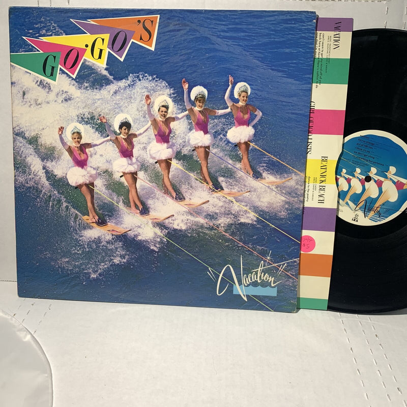 The Go Go's Vacation IRS New Wave Rock Vinyl Record VG+/VG+