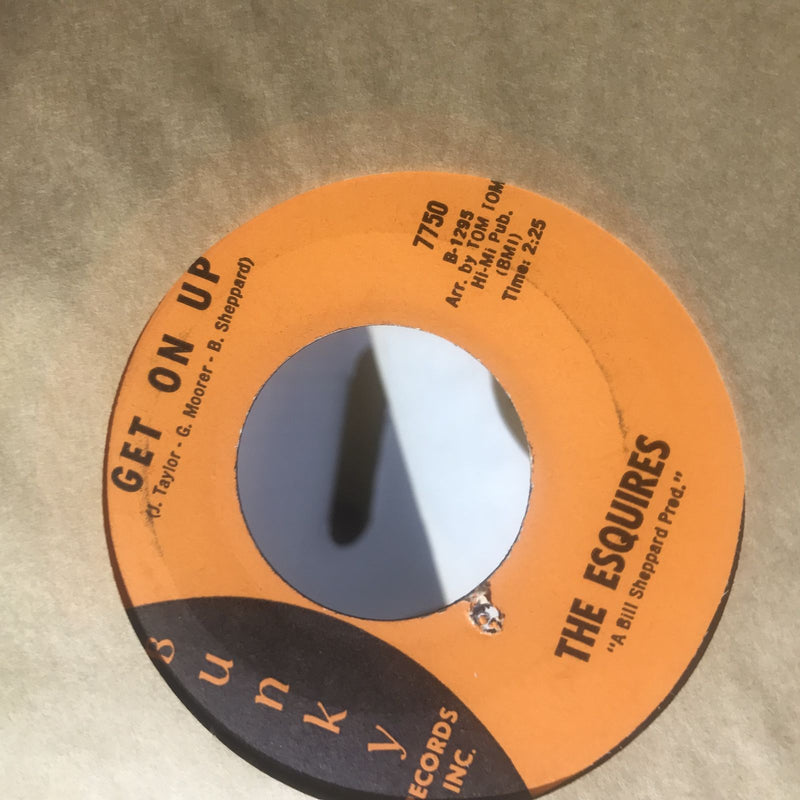 The Esquires- Get On Up/Listen To Me- Bunky 7750- EX+
