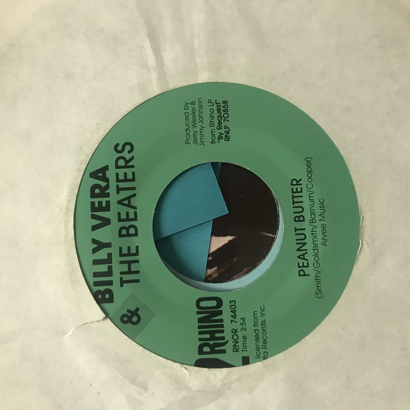 Billy Vera & The Beaters- At This Moment/Peanut Butter- Rhino RNOR 74403 VG+
