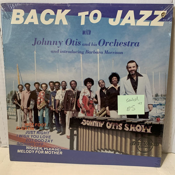 Johnny Otis Barbara Morrison Back To Jazz Jazz World JW 707 SEALED Record LP