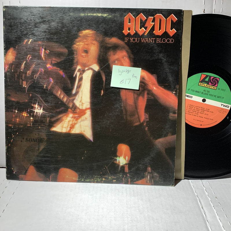 AC/DC If You Want Blood- Atlantic SD 19212 VG++/VG+ Piros Master SP LP