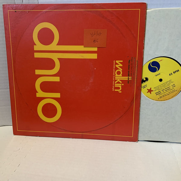 "Dhuo Walkin Sire 0 20253 VG+/VG+ 12"" Single New Wave 45rpm Record"