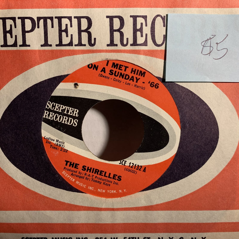 The Shitelles I Met Him On A Sunday 66- Scepter 12132 VG+ Soul 45 Record