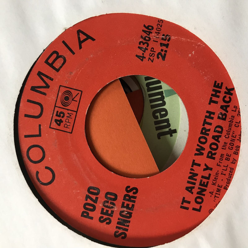 Pozo Seco Singers- It Aint Worth The Lonely Road Back- Columbia 4-43646